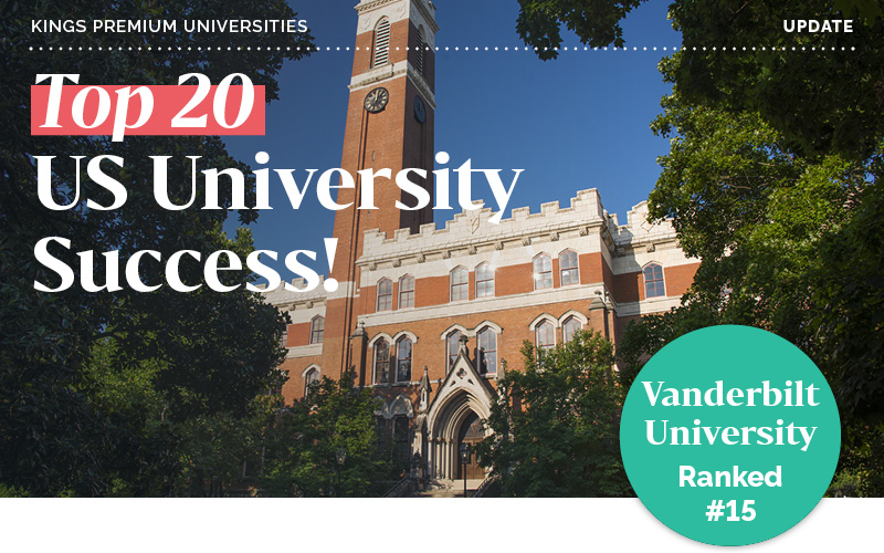 Top 20 US University Success!